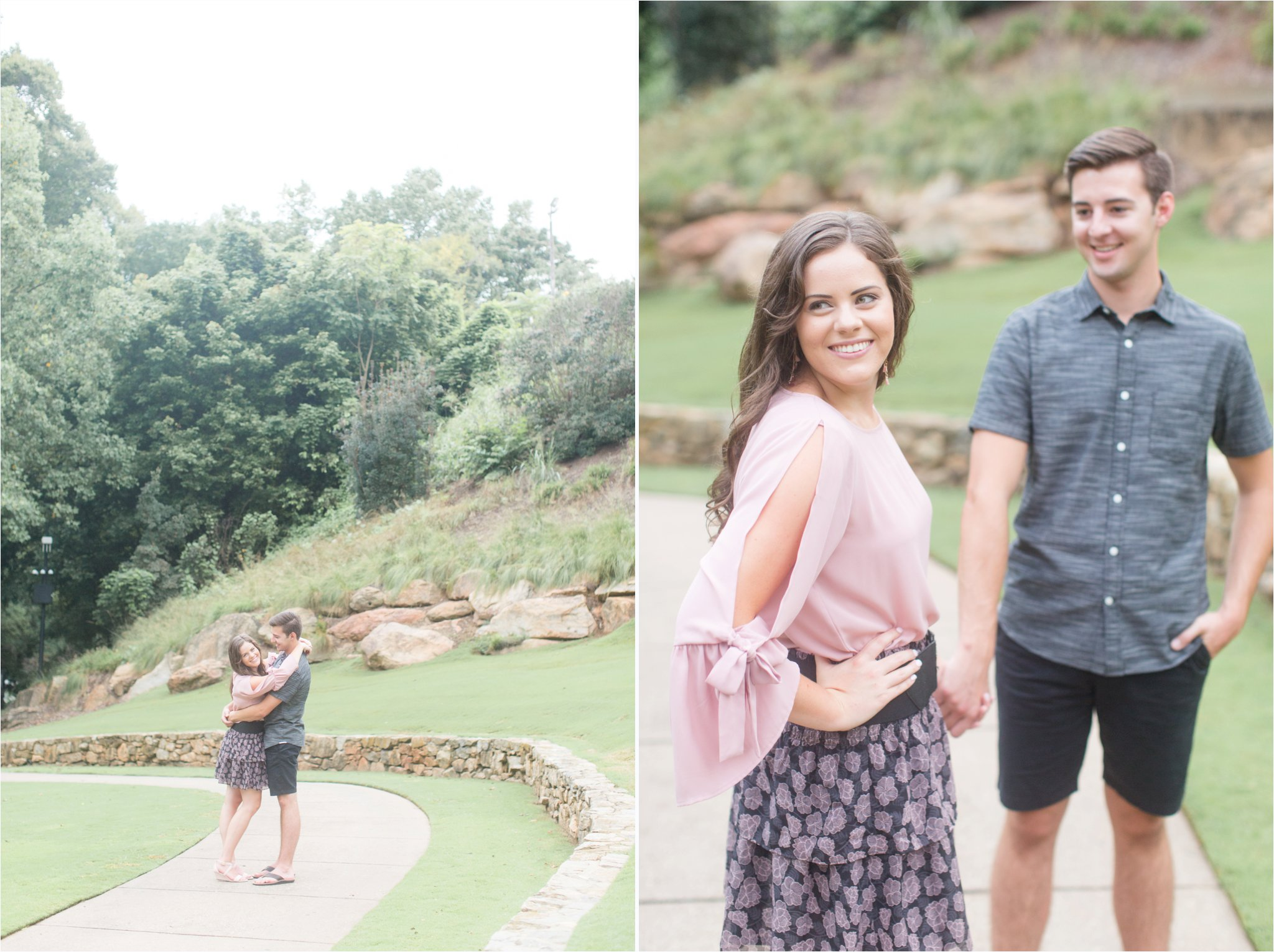 Downtown Greenville Engagement Session | Falls Park Greenville SC | South Carolina Wedding Photography | Christa Rene Photography