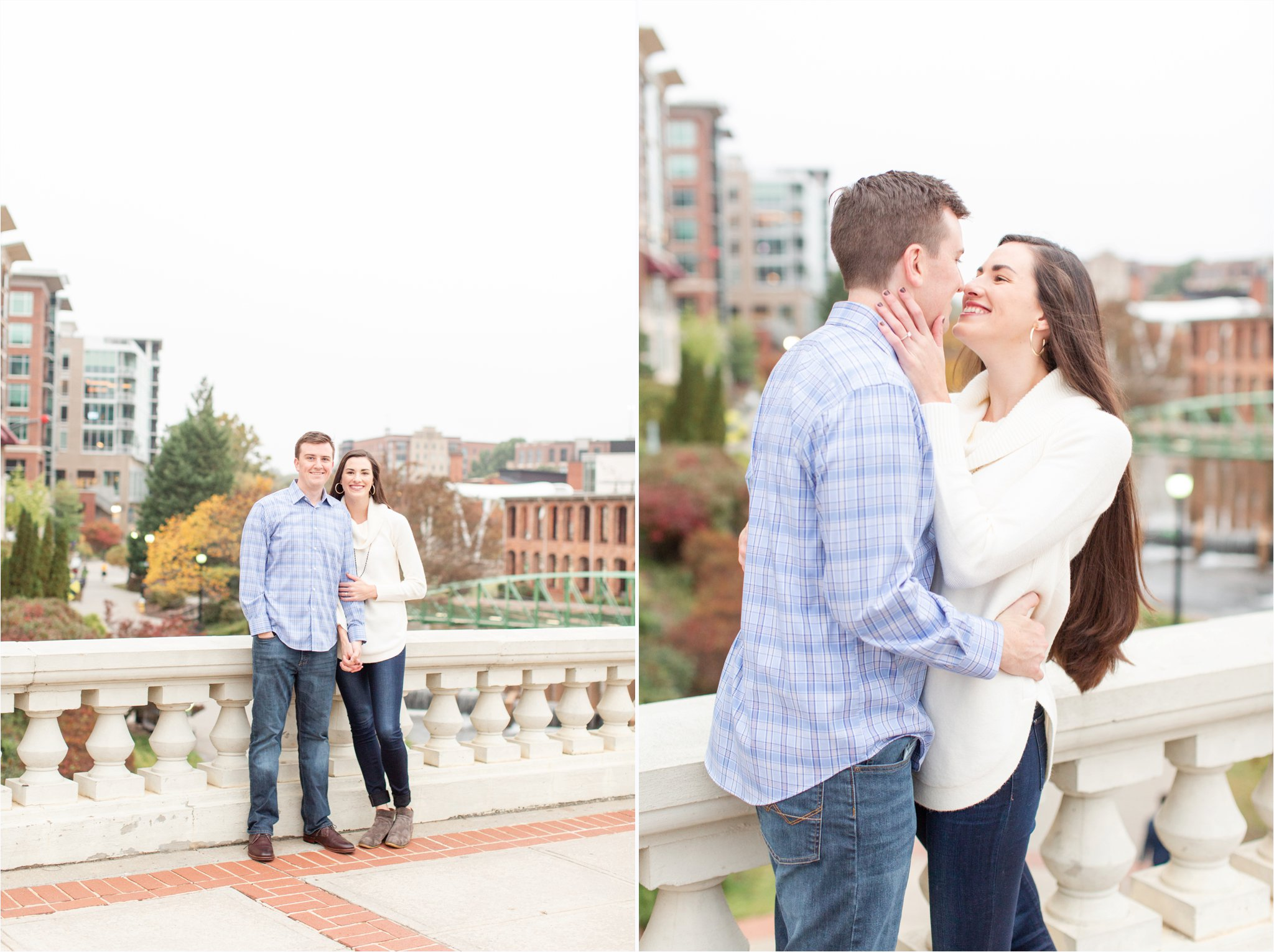 Falls Park Greenville, SC | Downtown Greenville Engagement Photos | Christa Rene Photography