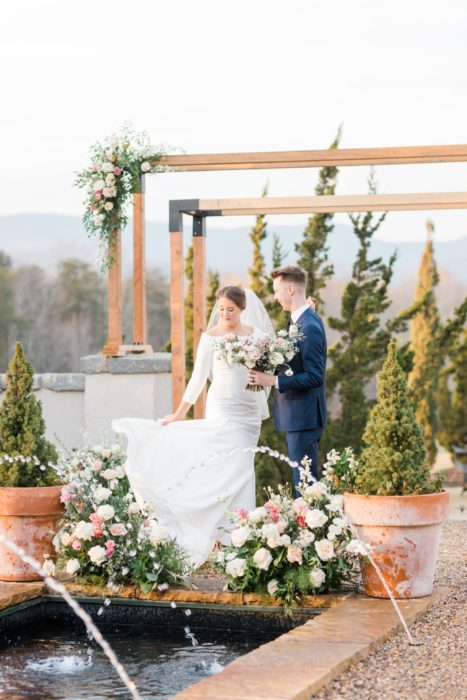 Classic outdoor intimate wedding in the NC Mountains at Hotel Domestique by SC Photogapher Christa Rene Photography