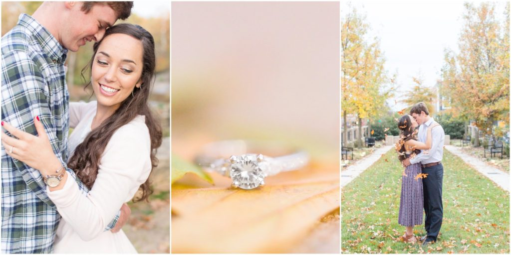 Downtown Greenville fall engagement session by wedding photographer Christa Rene Photography