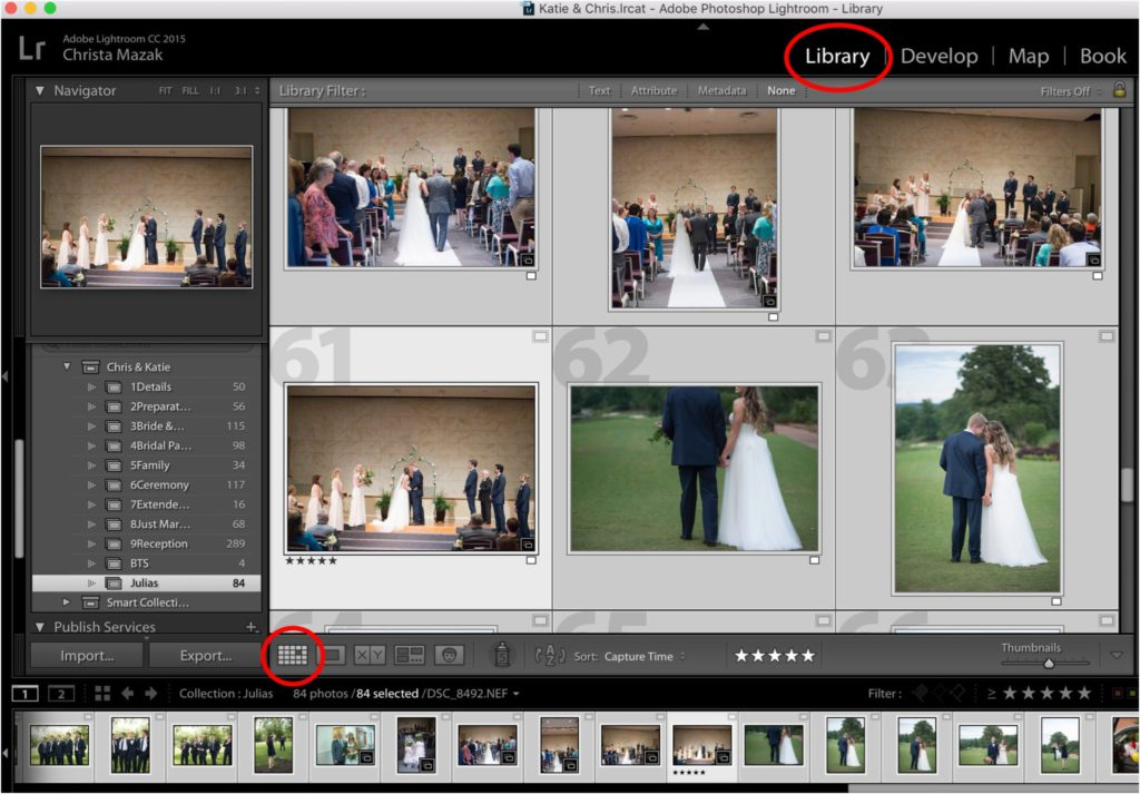 How to Edit Capture Time in Lightroom | Staying Organized with Mulitple Camera Images | Education by Greenville, SC Wedding Photographer Christa Rene Photography