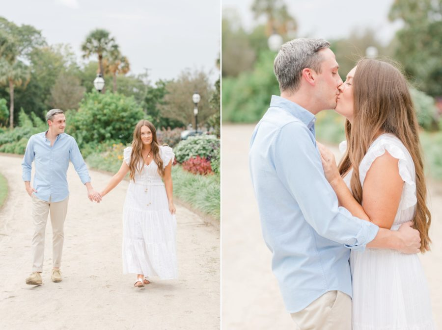 Downtown Charleston engagement session at Hampton Park by SC Photographer Christa Rene Photography